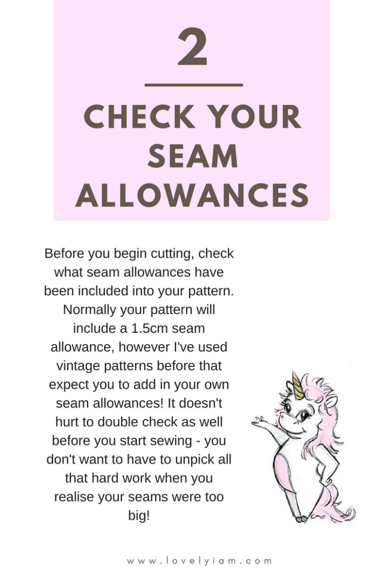 2. Check your seam allowances