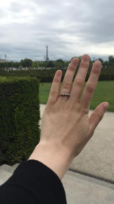 My prince charming proposed in Tuileries Garden.